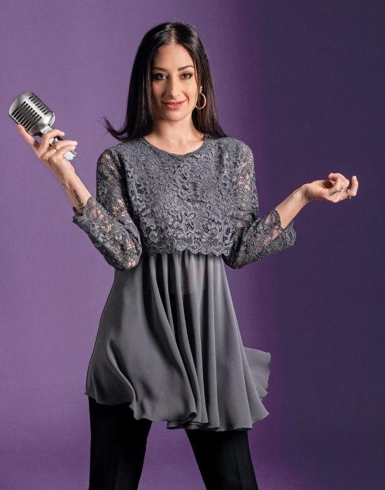 [el]Layering δαντελένια μπλούζα NaraCamicie [en] Layering lace blouse NaraCamicie