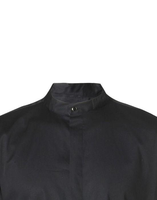 Mandarin collar ανδρικό πουκάμισο detail NaraCamicie
