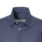 Micro-print ανδρικό πουκάμισο NaraCamicie