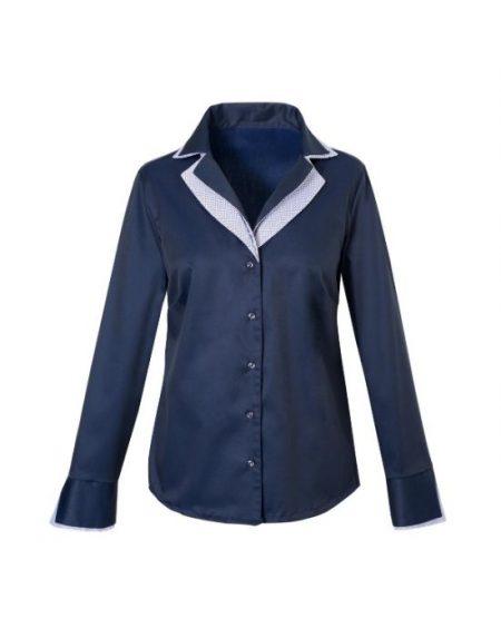 Oxford πουκάμισο με διπλό rever γιακά Nara Camicie