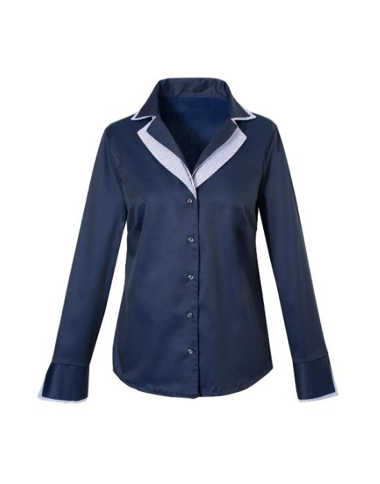 [el]Oxford πουκάμισο με διπλό rever γιακά Nara Camicie[en] shirt with double rever collar Nara Camicie