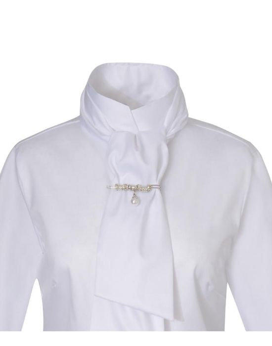 [el]Oxford πουκάμισο με σάρπα Nara Camicie[en] Oxford shirt with tie Nara Camicie