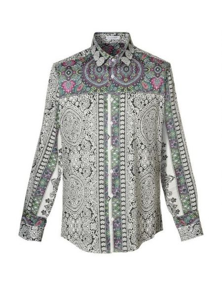 Paisley digital print shirt NaraCamicie