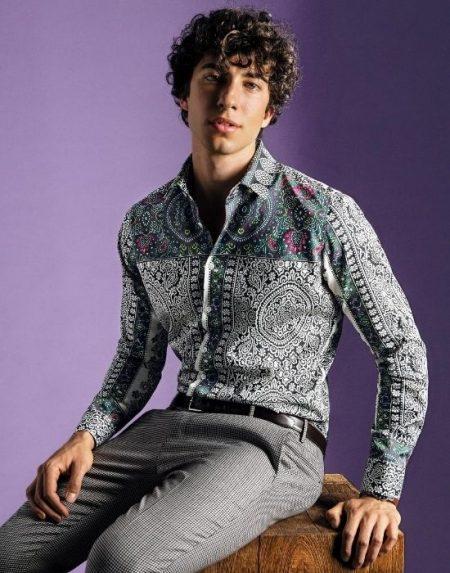 Paisley digital print πουκάμισο NaraCamicie