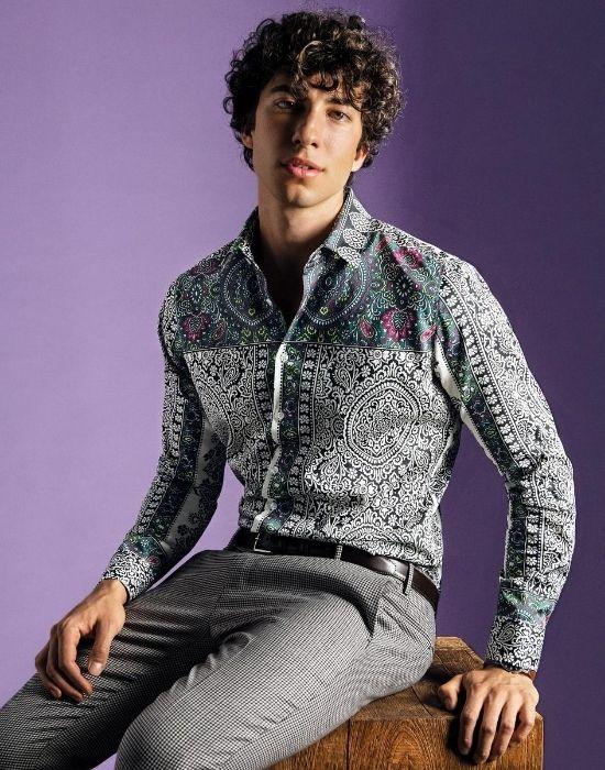 [el]Paisley digital print πουκάμισο NaraCamicie [en] Paisley digital print shirt NaraCamicie
