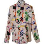 Pop art digital print ανδρικό πουκάμισο NaraCamicie