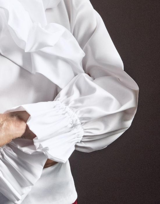 [el]Nuvola βαμβακερή μπλούζα NaraCamicie [en] Nuvola cotton blouse NaraCamicie .