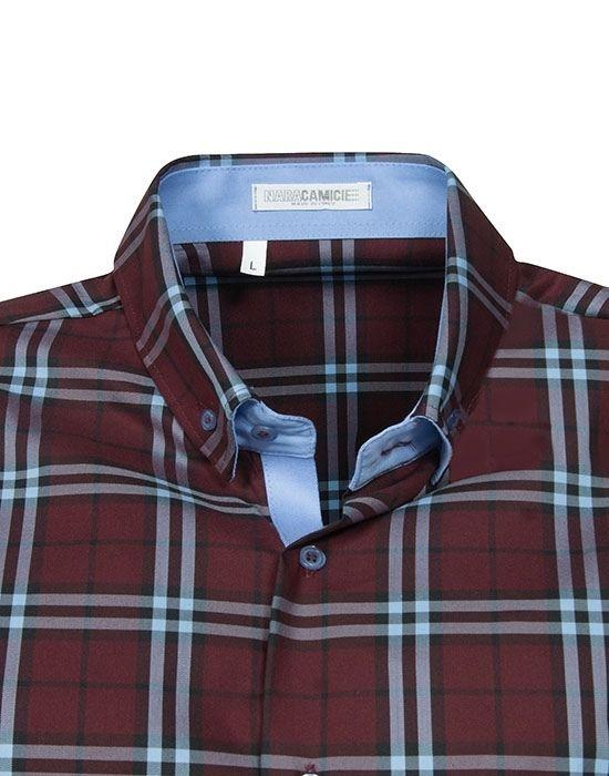 [el] Plaid ανδρικό πουκάμισο NaraCamicie[en] plaid man's shirt NaraCamicie