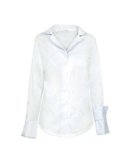 Oxford πουκάμισο με διπλό rever γιακά NaraCamicie T3890-FO8798
