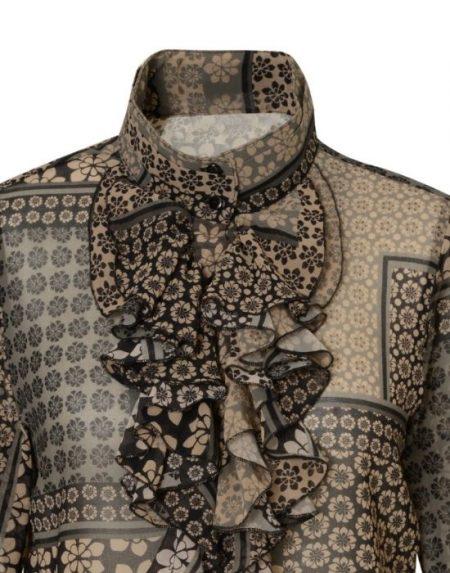 Floral patch print shirt NaraCamicie