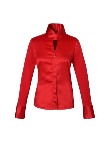 Σατέν tall collar πουκάμισο Nara Camicie T8278-FO8854