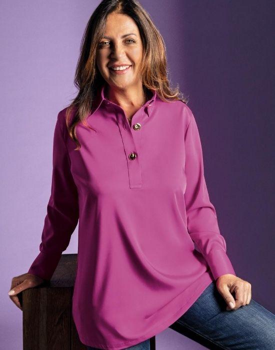 [el]Polo μπλούζα-τουνίκ NaraCamicie [en] Polo blouse-tunik NaraCamicie