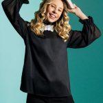 Γυναικεία μπλούζα με δαντελένια μοτίφ NaraCamicie