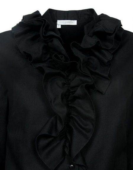 Γυναικειο Chevron πουκαμισο με frills NaraCamicie