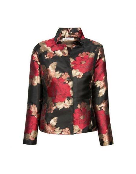 floral weave γυναικείο  ζακέτα πουκάμισο NaraCamicie