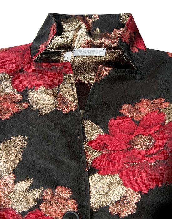 [el]floral weave γυναικείο  ζακέτα πουκάμισο NaraCamicie [en] floral weave woman's  jacket shirt NaraCamicie