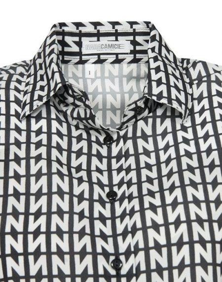 Γυναικείο πουκάμισο Logo N print NaraCamicie