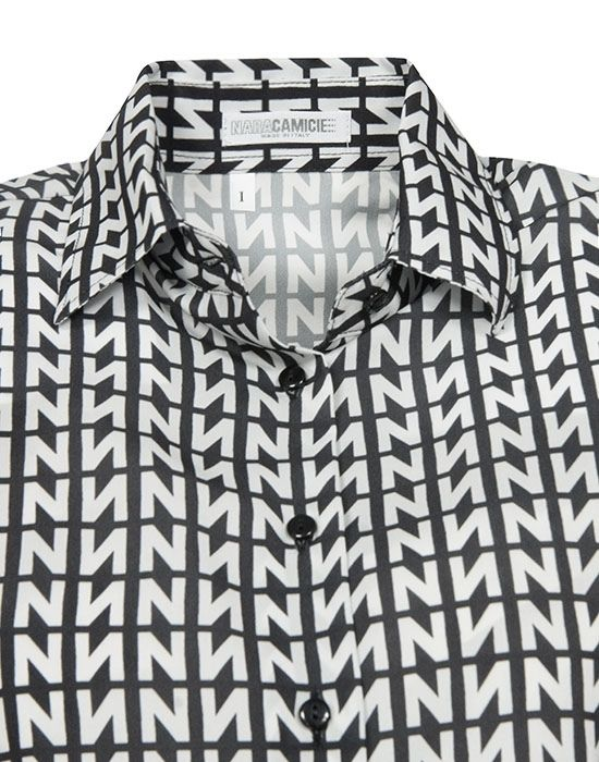 [el]Γυναικείο πουκάμισο Logo N print NaraCamicie [en]Woman's shirt Logo N print NaraCamicie