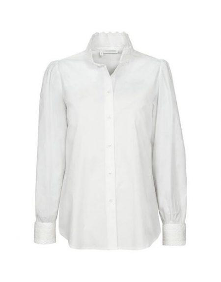Γυναικείο πουκάμισο με high mandarin  γιακά NaraCamicie