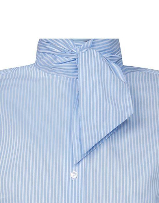 [el]Γυναικείο πουκάμισο ριγέ με σάρπα NaraCamicie [en]woman's stripped shirt with tie NaraCamicie