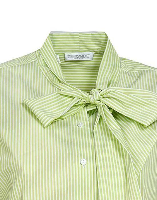 [el]Γυναικείο πουκάμισο ριγέ με σάρπα NaraCamicie [en]woman's stripped shirt with tie NaraCamicie-T3191-FO8695