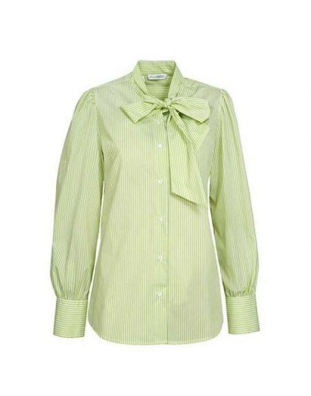 Γυναικείο πουκάμισο ριγέ με σάρπα NaraCamicie T3191-FO8695