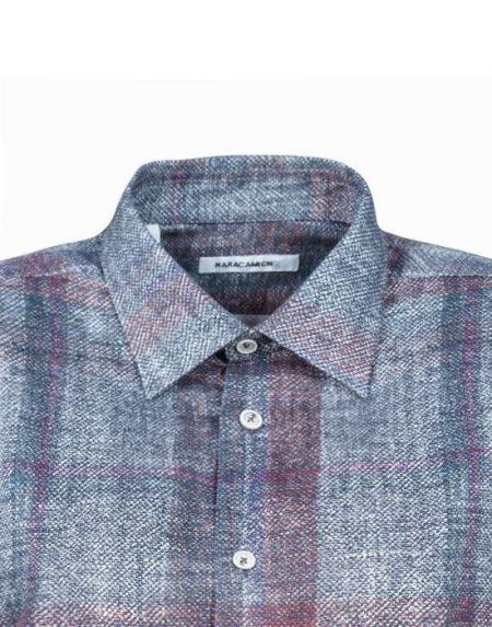 Smoky plaid ανδρικό πουκάμισο Nara Camicie I2001-LA0171