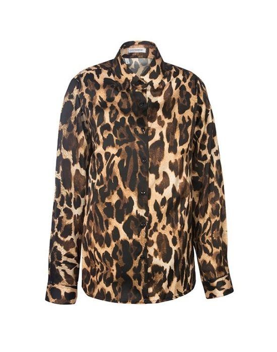 Κλασικό γυναικείο πουκάμισο Animalier NaraCamicie