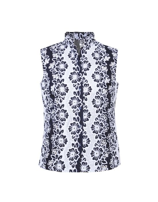 Broderie anglaise top blouse  NaraCamicie T6941-DO8998