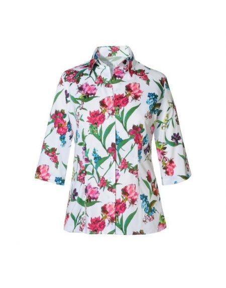 Floral blossom πουκάμισο NaraCamicie T6947-FO9020