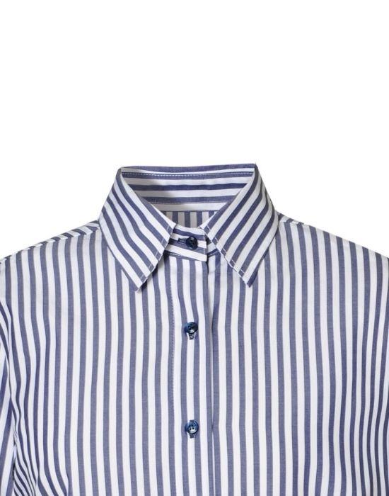 Marine striped πουκάμισο NaraCamicie T6909-FO8978