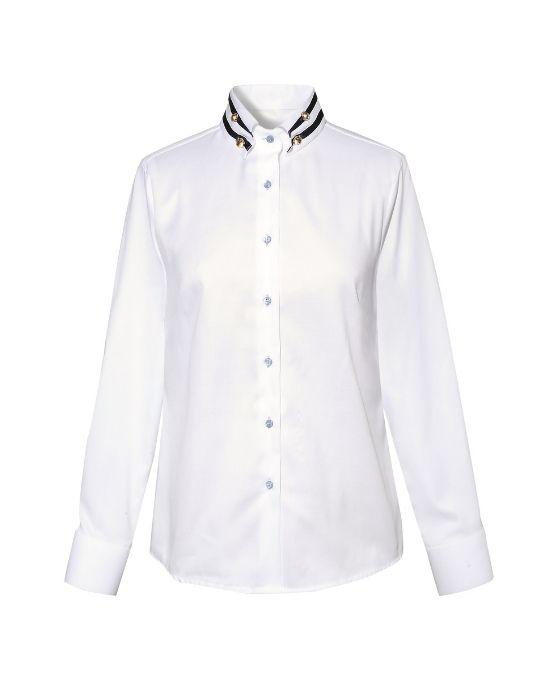 Nautical chic πουκάμισο NaraCamicie T3557-FO8999