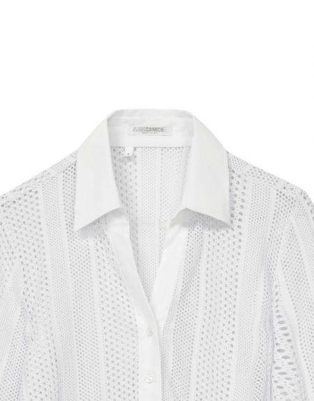 Perforated meryl πουκάμισο T6810-FO8983