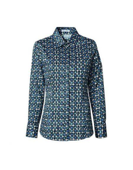 Retro geometric print πουκάμισο T6927-FO8969