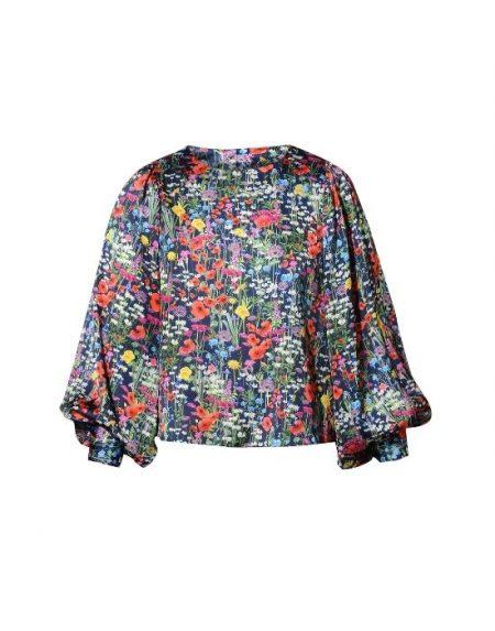Satin floral μπλούζα NaraCamicie T6930-FO8970