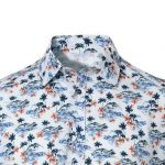 Ανδρικό πουκάμισο με tropical print NaraCamicie  EG123-MA0141