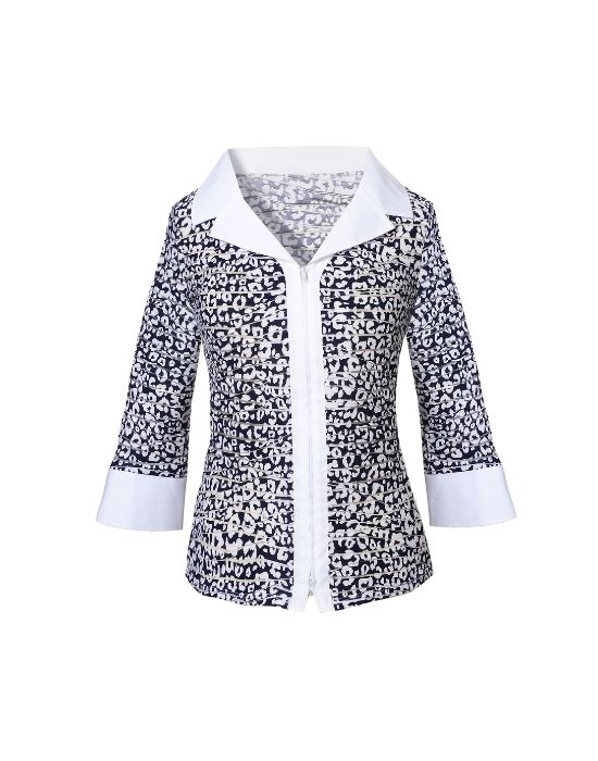 Twill patterned πουκάμισο NaraCamicie T6903-FO8985