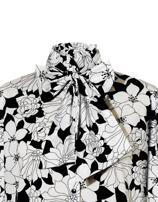 Black & White floral Πουκάμισο NaraCamicie T6900-FO9000