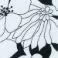 F01 Floral Λευκό-Μαύρο