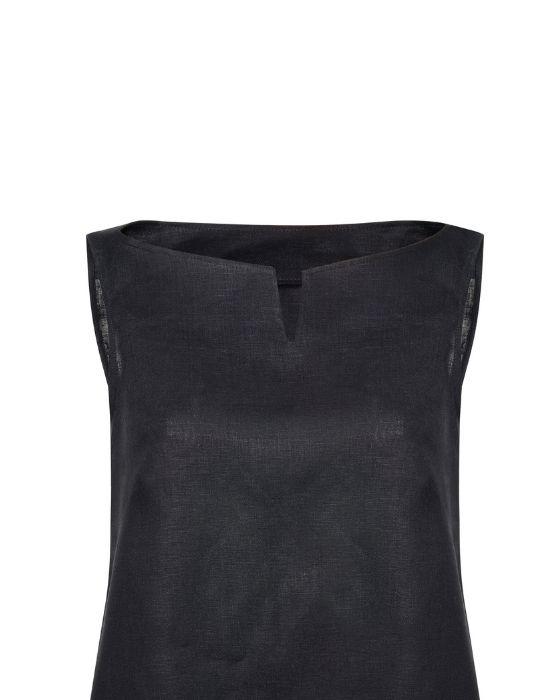 [el] Γυναικεια λινη μπλουζα σε γραμμη Α  NaraCamicie