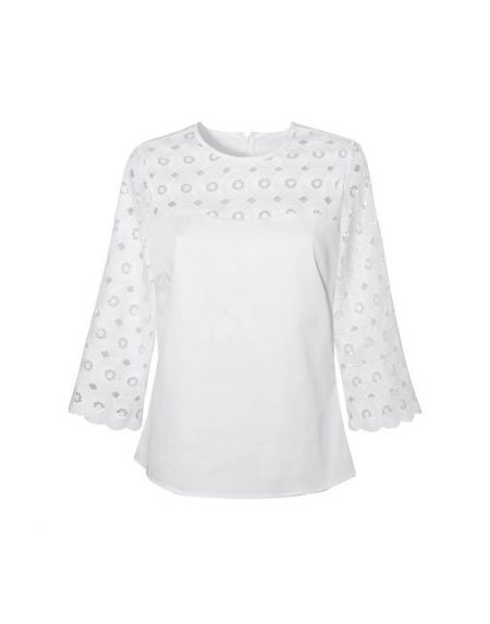 Retro chic μπλούζα NaraCamicie T6831-FO9030