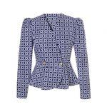 Retro chic πουκάμισο NaraCamicie T6921-FO9010