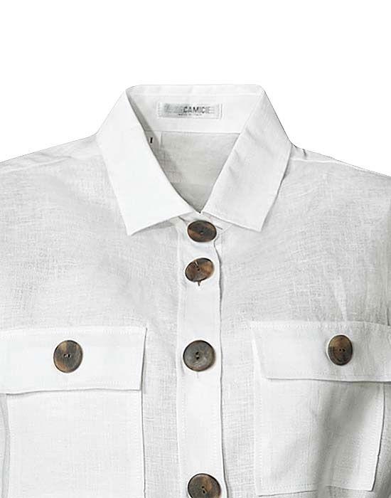 Safari style πουκάμισο NaraCamicie TOO10-DO9069