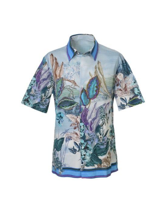 Foulard paneled ανδρικό πουκάμισο NaraCamicie T6955-PO3055