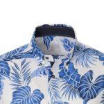 Tropical print ανδρικό πουκάμισο NaraCamicie  F2111-MA0196