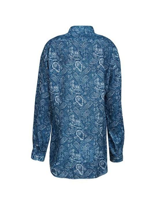Paisley print λινό πουκάμισο NaraCamicie E2108-LA0205