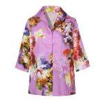 Floral bouquet patterned πουκάμισο NaraCamicie T6962-FO9088