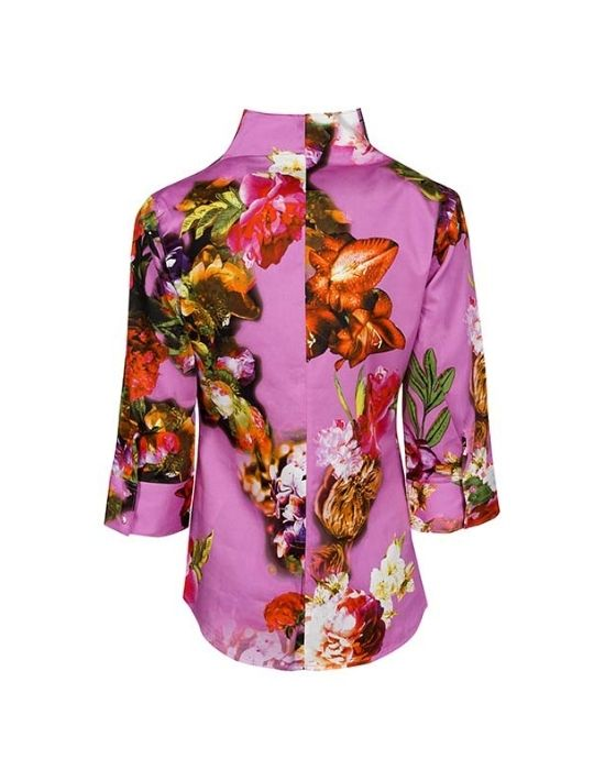 [el]Floral bouquet patterned πουκάμισο NaraCamicie T6962-FY4926