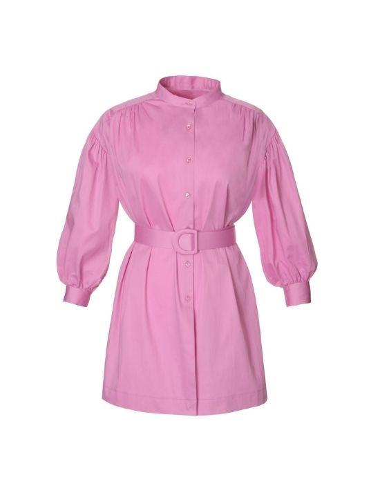 Γυναικεία πουκάμισό με ζώνη NaraCamicie T3449-FO9107