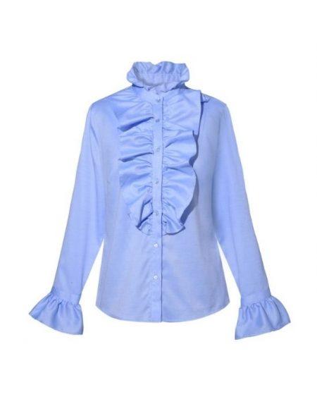 Γυναικείο πουκάμισο με βολάνNaraCamicie T3557-FO8971